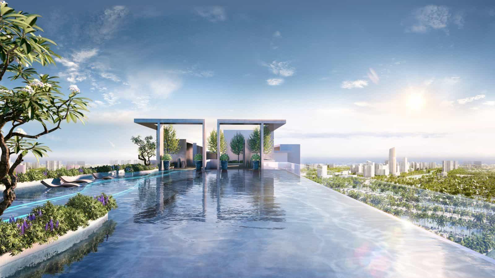 Tiên cảnh Hồ bơi chân mây đẹp như trong mơ tại Astral City
